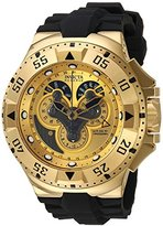 Invicta Men's 'Excursion' Swiss Quartz Stainless Steel and Silicone Casual Watch, Color:Black (Model: 18557)
