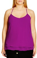 City Chic 'Double Love' Layered Camisole (Plus Size)
