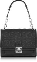 Karl Lagerfeld K/Kuilted Black Handbag w/Shoulder Strap