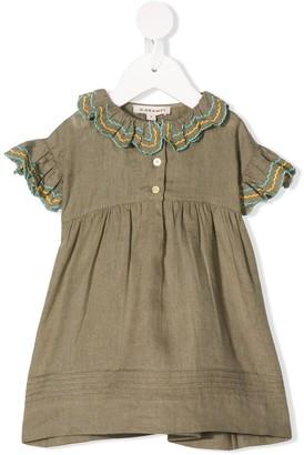 Caramel Sloane Square ruffle-trim dress