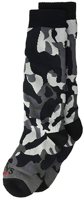 Hot Chillys Kids Tex Camo Mid Volume Sock (Toddler/Little Kid/Big Kid) (Tex Camo/Black) Kids Shoes