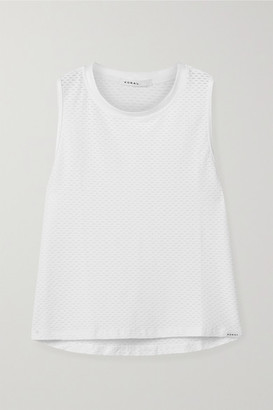 Koral Muscle Stretch-mesh Tank - White