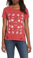 Lucky Brand Flowers Distressed Tee