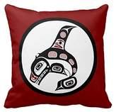 northwest pacific coast haida art killer whale pillow case