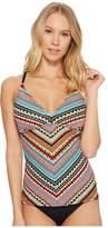 Jantzen Geo Multi Stripe X-Back Tankini Women's Swimwear