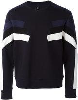Neil Barrett panelled sweatshirt - men - Cotton/Spandex/Elastane/Lyocell/Viscose - L