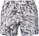 Paura abstract print swim shorts - men - polyester - L