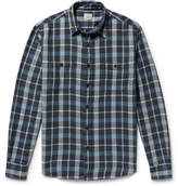 Faherty Seasons Checked Cotton-flannel Shirt - Blue