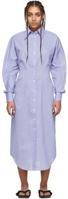Acne Studios Blue Cinched Shirt Dress
