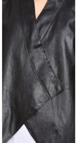 Velvet Faux Leather Motorcycle Jacket