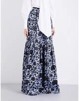Erdem Amanda high-rise jacquard maxi skirt