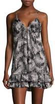 Kate Spade Feather-Print Tiered Chemise