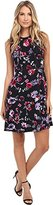 Donna Morgan Women's Sleeveless Printed Dress with Piping