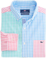 Vineyard Vines Carleton Gingham Party Stretch Tucker Shirt