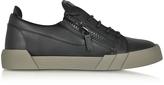 Giuseppe Zanotti Black Leather Low Top Sneaker