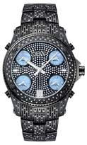 JBW Men's Jet Setter Multi-Time Zone Swiss Movement Real Diamond Watch