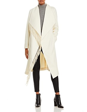 Milly Fringe Open Front Coat