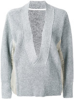Sacai oversized V-neck jumper