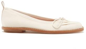 Simone Rocha Crystal-embellished Canvas Ballerina Flats - Cream