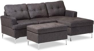 Design Studios Riley 3-Piece Sectional Sofa & Ottoman Set