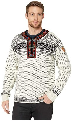 Dale of Norway Setesdal Unisex Sweater (A-Off-White/Black) Men's Sweater