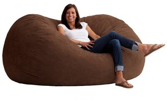 Big Joe Fuf Extra Large Bean Bag Chair Fabric: Comfort Suede Espresso