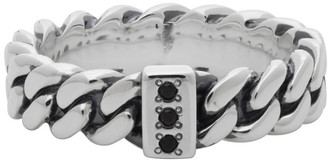 Tom Wood Silver Chain Ring Slim Spinel Ring