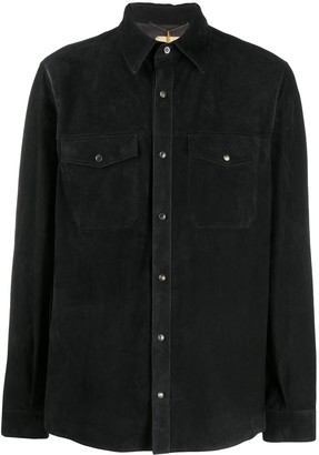 Ajmone long sleeve flap pocket shirt