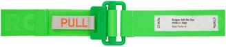 Heron Preston Green Grosgrain Tape Belt