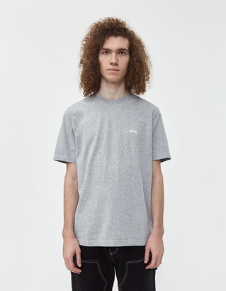 Stussy S/S Stock Crew T-Shirt in Grey Heather