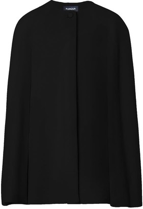 Rumour London Cora Wool & Cashmere-Blend Cape Coat In Black