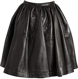 Alaia \N Black Leather Skirts