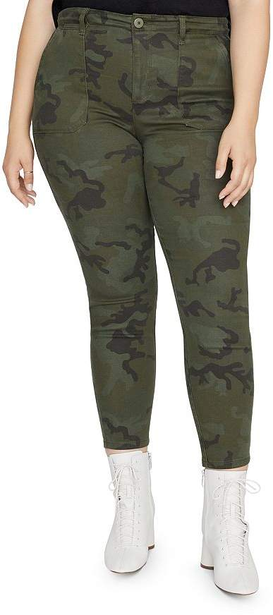 Sanctuary Curve Palmer Camouflage Cigarette Skinny Jeans