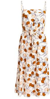 Des Petits Hauts Cream Midi Rafalia Dress - large
