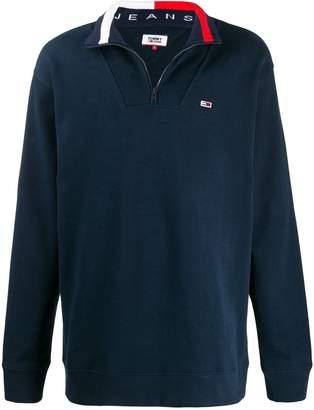 Tommy Jeans zipped mock neck sweatshirt