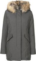 Woolrich hooded down midi coat