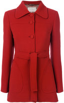 L'Autre Chose belted fitted coat - women - Viscose/Wool - 42