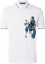 Dolce & Gabbana drummer patch polo shirt - men - Cotton - 46