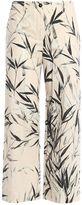 Blumarine Trousers Bamboo Print