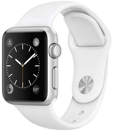 Apple Refurbished Watch Series 1, 42mm Aluminum Case with Black Sport Band
