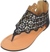 "Josmo Girls ""Lattice Thong"" Sandals"