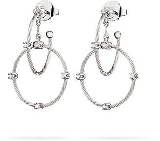 Paul Morelli 18k White Gold Diamond Link Earrings, 28mm