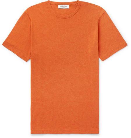 YMC Melange Slub Cotton-Jersey T-Shirt - Men - Orange