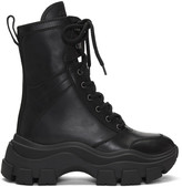 Prada Black Leather Mid-Calf Boots