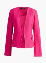 St. John Texture Knit Cut-Away Jacket