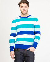 Le Château Stripe Cotton Crew Neck Sweater