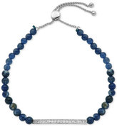 Giani Bernini Cubic Zirconia and Sodalite Semi-Precious (11 ct. t.w.) Slider Bracelet in Sterling Silver, Only at Macy's
