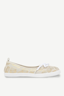 Ardene Pineapple Laced Slip-On Sneakers