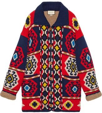Gucci Geometric Jacquard-Knit Cardigan