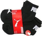 Puma Boy's Cushioned Quarter Crew Low Cut Socks, 6 identical Pairs